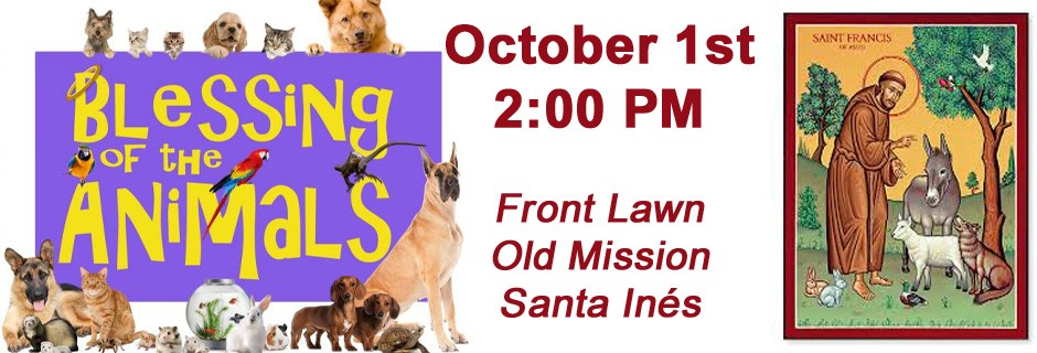 Blessing of Animals | Old Mission Santa Inés